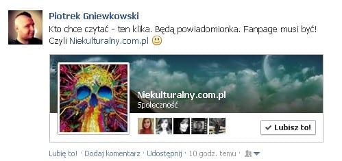 Jestem na Facebooku :)